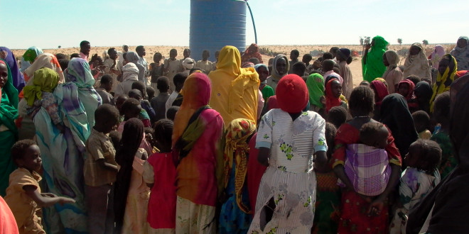 crowd in darfur